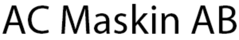 AC Maskin AB logo