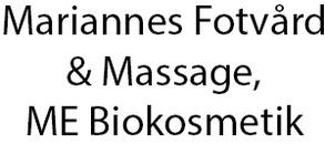 Mariannes Fotvård & Massage, ME Biokosmetik logo