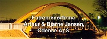 Entreprenørfirma Arthur & Bjarne Jensen, Odense ApS logo