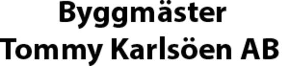Byggmäster Tommy Karlsöen AB logo