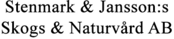 Stenmark & Jansson:s Skogs & Naturvård AB logo