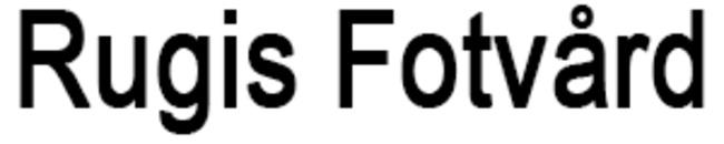 Rugis Fotvård logo