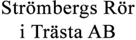 Strömbergs Rör i Trästa AB logo