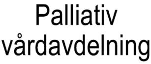 Palliativ vårdavdelning logo