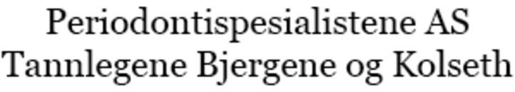 Periodontispesialistene AS Tannlegene Bjergene og Kolseth logo