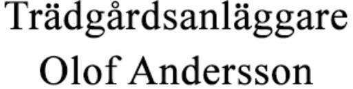 Trädgårdsanläggare Olof Andersson logo