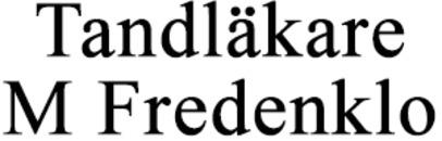 Tandläkare M Fredenklo AB logo