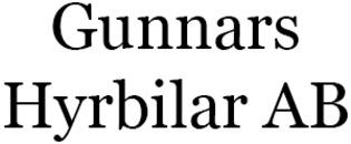 Gunnars Hyrbilar AB logo