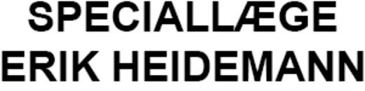 Speciallæge Erik Heidemann logo