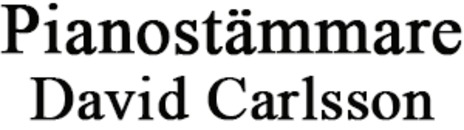 Pianotekniker David Carlsson logo