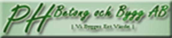 PH Betong och Bygg AB logo