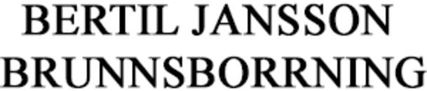 Bertil Jansson Brunnsborrning logo