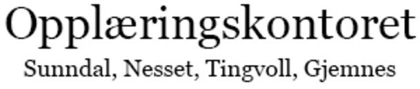 Opplæringskontoret Sunndal Nesset Tingvoll Gjemnes logo