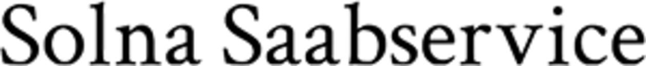 Saab-Service i Solna Mats Riesel logo