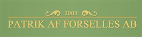 Patrik af Forselles AB logo f34d1f5e1b554