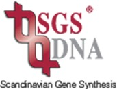 SGS DNA Scandinavian Gene Synthesis logo