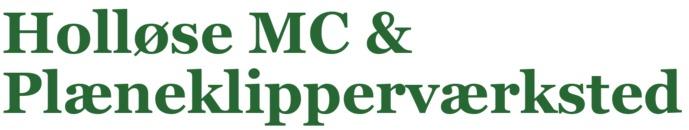 Holløse MC og Plæneklipperværksted logo