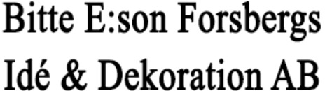 Bitte E:Son Forsbergs Idé & Dekoration AB logo