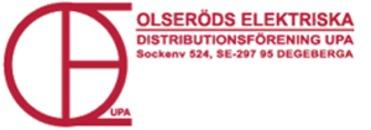 Olseröds Elektriska Distr. för logo