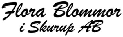 Flora Blommor i Skurup AB logo