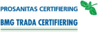 BMG TRADA & PROSANITAS Certifiering AB logo