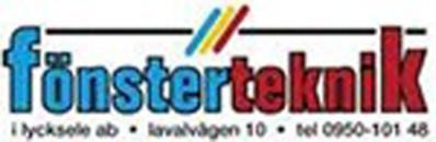 Fönsterteknik i Lycksele AB logo