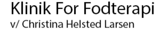 Klinik For Fodterapi v/ Christina Helsted Larsen logo