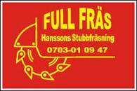 Full Fräs Hanssons Stubbfräsning logo