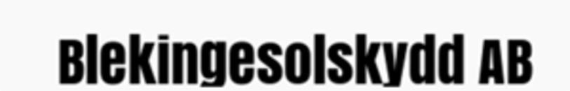 Blekinge Solskydd logo