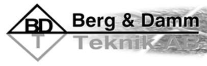 Berg- & Dammteknik AB logo
