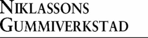 Niklassons Gummi Verkstad AB logo