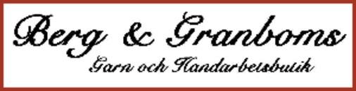 Berg & Granboms Handarbetsaffär logo
