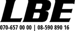 LBE - Lars Bäckström Entreprenad logo