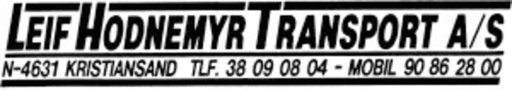 Leif Hodnemyr Transport AS logo
