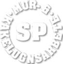 S P Mur o. Kakelugnsarbete logo