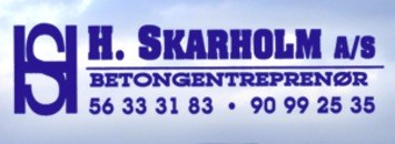 H Skarholm AS logo