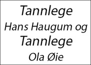 Tannlege Hans Haugum og Tannlege Ola Øie logo