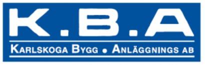 K B A Karlskoga Bygg- o. Anläggnings AB logo