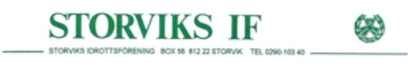Storviks Idrottsförening logo