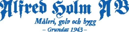 Målerifirma Alfred Holm AB logo