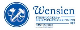 Wensien Stenhuggeri og Begravelsesforretning, Thisted logo