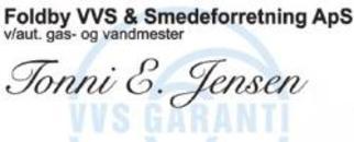 Foldby VVS & Smedeforretning, Frantz E. Jensen logo