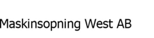 Maskinsopning West AB logo