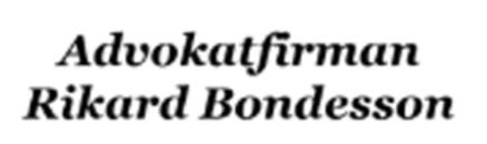 Advokatfirman Rikard Bondesson logo
