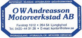O W Andreasson Motorverkstad AB logo