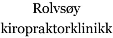 Rolvsøy Kiropraktorklinikk - Helminsen og Gullstein. logo