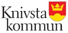 Samhällsutveckling, gator och trafik Knivsta kommun logo