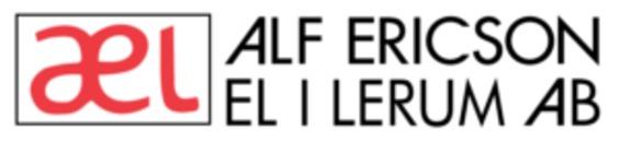 Alf Ericson Elektriska i Lerum AB logo