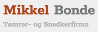 Tømrer-Snedkerfirmaet v/ Mikkel Bonde Jørgensen logo