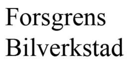 Forsgrens Bilverkstad AB logo